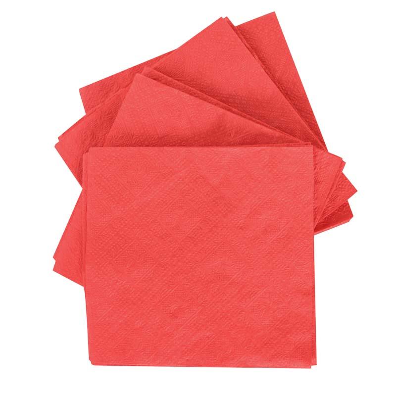 Serwetki składane  33x33, 2 warstwowe, kolor